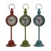 <strong>Woodland Imports</strong> The Statuesque Metal Table Clock (Set of 3)