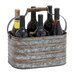 <strong>Woodland Imports</strong> Rustic Metal Galvanize 6 Bottle Holder