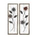 2 Piece Floral Metal Wood Wall Décor Set