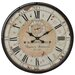 "Ovesized 32"" Romanian Styled Antique Wall Clock"
