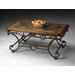 Metalworks Coffee Table with Stone Inset Top