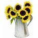 ACHLA Flower 1.75-Gallon Carafe Galvanized Planter