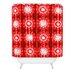 DENY Designs Julia Da Rocha Retro Flowers Shower Curtain