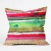 CayenaBlanca Ink Stripes Throw Pillow by DENY Designs