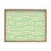 <strong>Jacqueline Maldonado Leaf Dot Stripe Mint Rectangle Tray</strong> by DENY Designs