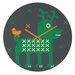 DENY Designs Gabriela Larios Reindeer and Birdy Wall Clock