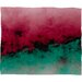 DENY Designs Caleb Troy Zero Visibility Poinsettia Ombre Plush Fleece Throw Blanket