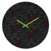 Zoe Wodarz Forest Neon Lights Wall Clock by DENY Designs