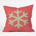 DENY Designs Ingrid Padilla Snowflake Throw Pillow