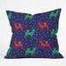 <strong>Zoe Wodarz Geo Pop Deer Blue Throw Pillow</strong> by DENY Designs