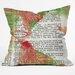DENY Designs Susanne Kasielke Santa Claus Dictionary Art Throw Pillow