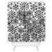 DENY Designs Ruby Door Snow Leopard Snowflake Woven Polyester Shower Curtain