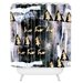 DENY Designs Cayenablanca A White Christmas Woven Polyester Shower Curtain