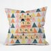 <strong>Happee Monkee Joy To The World Throw Pillow</strong> by DENY Designs