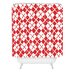 DENY Designs Social Proper Holiday Argyle Woven Polyester Shower Curtain