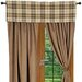 "<strong>Wooded River</strong> Jacobs Plaid 54"" Curtain Valance"
