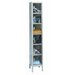 Safety-View Plus Stock Lockers - Six Tiers - 1 Section (Assembled) by Hallowell