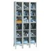 Safety-View Plus Stock Lockers - Six Tiers - 3 Sections (Unassembled) by Hallowell