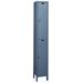 ValueMax One Wide Double Tier Locker in Hallowell Gray (Unassembled)