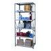 Hallowell Hi-Tech Heavy-Duty Open Type 6 Shelf Shelving Unit Starter