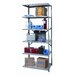 "Hallowell Hi-Tech Extra Heavy-Duty Open Type 87"" H 6 Shelf Shelving Unit Add-on"