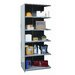 "<strong>Hallowell</strong> Hi-Tech Medium-Duty Closed Type 87"" H 6 Shelf Shelving Unit Add-on"