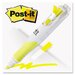 Highlighter With Page Flages, 3/PK, Yellow and 50 Flags