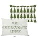 <strong>OneBellaCasa.com</strong> Holiday Oh Christmas Tree Reversible Pillow