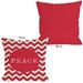 <strong>OneBellaCasa.com</strong> Holiday Peace Chevron Stripe Pillow