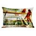 One Bella Casa Surfer Gal Pillow
