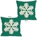 One Bella Casa Single Snowflake Pillow