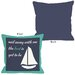 <strong>Sail Away Sailboat with Border Pillow</strong> by One Bella Casa