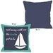 <strong>Sail Away Sailboat with Border Pillow</strong> by OneBellaCasa.com