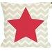 One Bella Casa Chevron Star Reversible Pillow