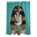 <strong>OneBellaCasa.com</strong> Pets Rock Cleo Polyester Shower Curtain