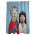 <strong>OneBellaCasa.com</strong> Pets Rock Mr & Mrs Polyester Shower Curtain