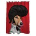 <strong>OneBellaCasa.com</strong> Pets Rock Rock n' Roll Polyester Shower Curtain
