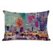 <strong>OneBellaCasa.com</strong> Oliver Gal NYC Fashion Taxi Pillow