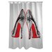 <strong>Oliver Gal Fire in Your New Shoes Polyester Shower Curtain</strong> by OneBellaCasa.com