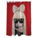 One Bella Casa Pets Rock GG Polyester Shower Curtain