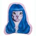 One Bella Casa Pets Rock Gurl Shaped Pillow
