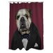 Pets Rock Leader Polyester Shower Curtain
