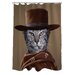 Pets Rock Western Polyester Shower Curtain
