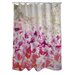 One Bella Casa Oliver Gal Gold Spring Polyester Shower Curtain