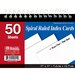 Bazic Spiral Bound Ruled White Index Cards