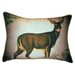 Lodge Deer in Snow Indoor / Outdoor Pillow