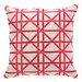 Cane Embroidered Decorative Pillow
