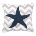 <strong>Peking Handicraft</strong> Nautical Embroidery Seastar Pillow
