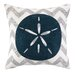 <strong>Peking Handicraft</strong> Nautical Embroidery Sand Dollar Pillow