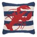 <strong>Nautical Hook lobster Stripe Pillow</strong> by Peking Handicraft